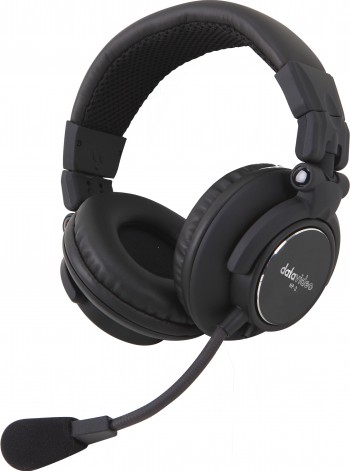 DataVideo HP-2A beidseitiger Kopfhörer mit Mikrofon für ITC-100