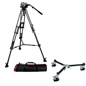 Manfrotto 504HD,546BK incl. Stativ-Rollwagen