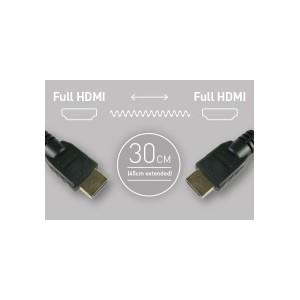 Atomos HDMI auf HDMI Spiralkabel, ca. 30-45 cm lang