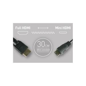 Atomos Mini HDMI auf HDMI Spiralkabel, 30-45 cm lang