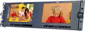 """DataVideo TLM-702HD 2x7"""" 16:9/4:3 HD/SD TFT LCD Monitorbrücke 19"""