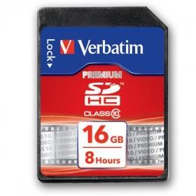 Verbatim HD Video SDHC 16 GB Class 10 Speicherkarte