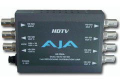 AJA HD10DA HD/SD (dual-rate) Re-clocking 1x6 Serial Digital DA