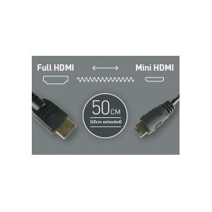 Atomos Mini HDMI auf HDMI Spiralkabel, 50-65 cm lang
