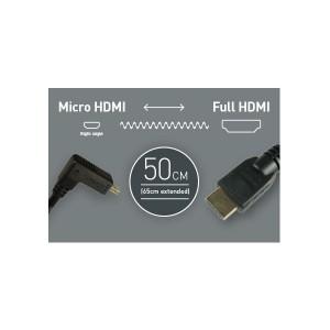 Atomos Micro HDMI auf HDMI Spiralkabel, ca. 50-65 cm lang