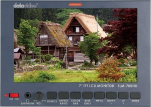 "DataVideo TLM-700 HD-A 7"" SDI / HDMI LCD Monitor, AB-Mount"