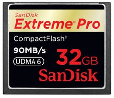 SanDisk Compact Flash Extreme Pro 32 GB 90 MB/s