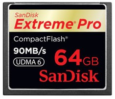 SanDisk Compact Flash Extreme Pro 64 GB 90 MB/s